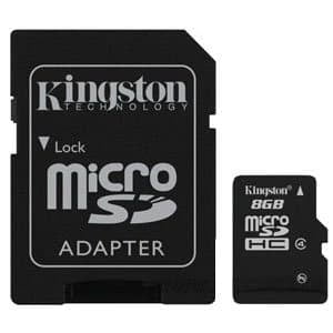 Карта памяти Kingston Micro SDHC 08 Gb Class 4 + adapt