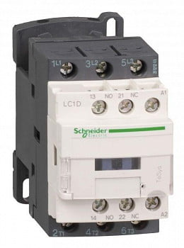 Контактор 3п 9А НО+Н3 230В Schneider Electric LC1D09P7
