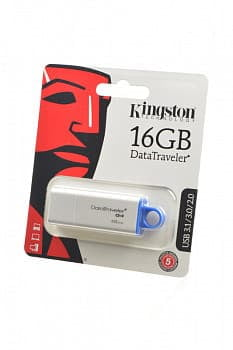 Носитель информации KINGSTON USB 3.1/3.0/2.0 16GB DataTraveler G4 белый c синим BL1